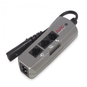 APC Notebook Surge Protector for AC, phone and network lines, 2 pin connection, 100-240V, EMEA
